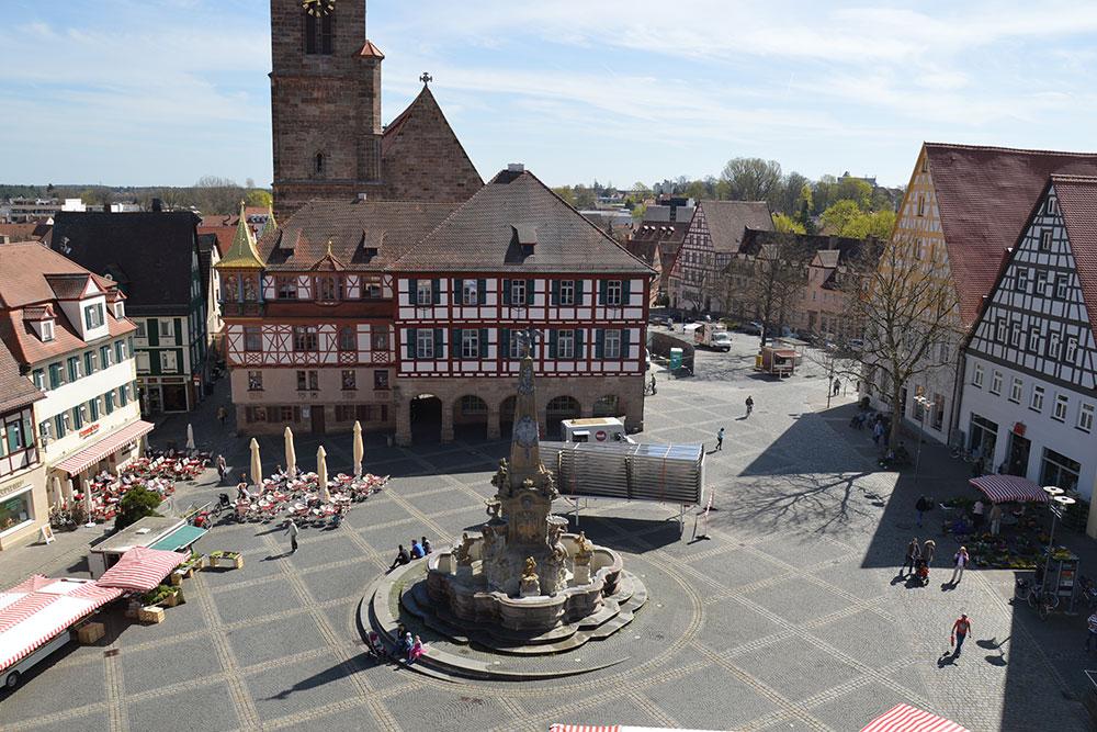 Schwabach Königsplatz | Bild: Wikipedia | Copyright: Stadt Schwabach